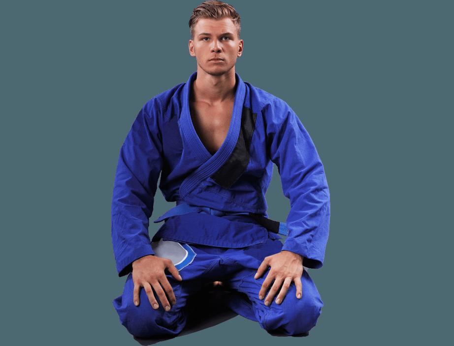 Jiu Jitsu man kneeling