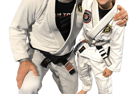 Travis Tooke with Self Defense student