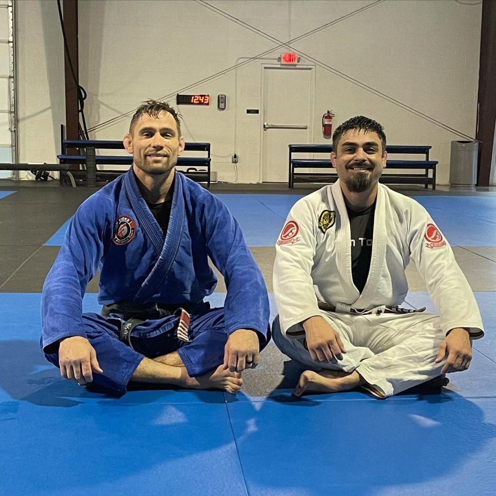 Travis Tooke and Steve Portillo in Jiu-jitsu Class