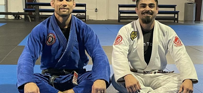 Travis Tooke and Steve Portillo in Jiu-jitsu Class