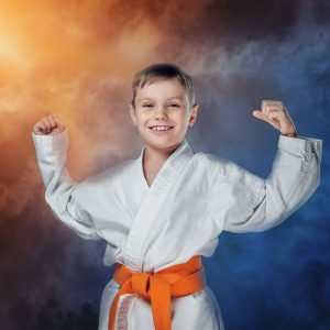 Self confident kids in Jiu-jitsu